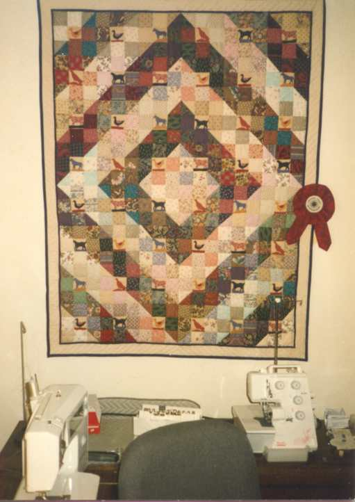 image title is Crib Quilt, Hand Quilted, 1992-3