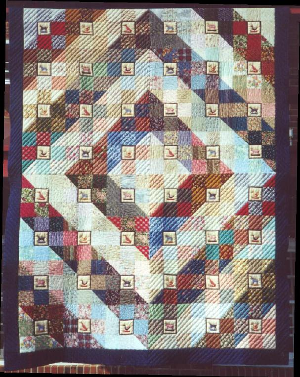 image title is Animal Farm, Hand Quilted, 1994