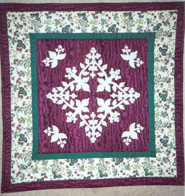 image title is Pearl Embellished Wall Quilt, 1997